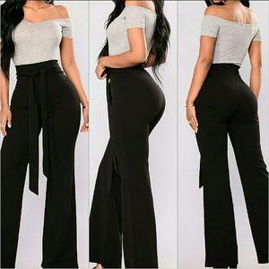 Fashion Nova City Chic Waist Tie Pants